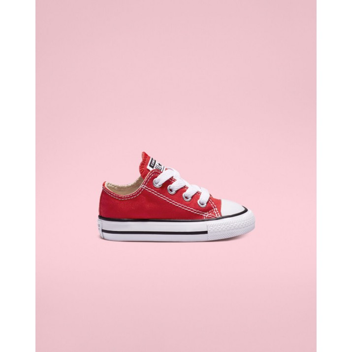 Kids Converse Chuck Taylor All Star Shoes Red 7J236