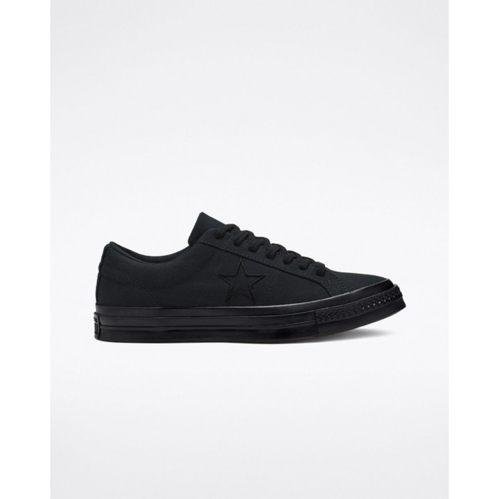 Mens Converse One Star Shoes Black/Black 163380C