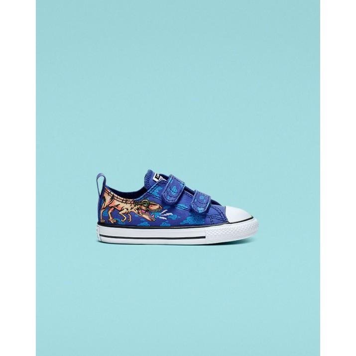 Kids Converse Chuck Taylor All Star Shoes Blue/Black/White 764248C