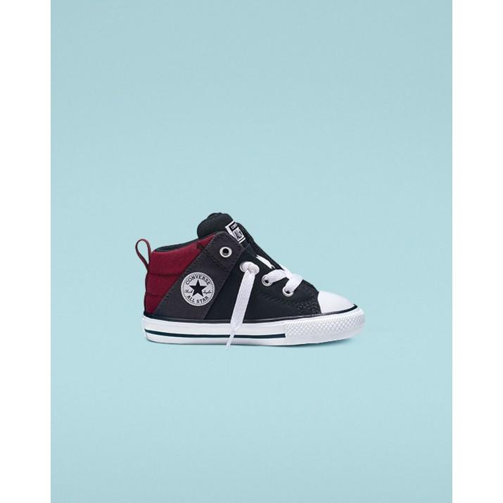 Sapatilhas Converse Chuck Taylor All Star Criança Pretas/Vermelhas Escuro/Branco 765359F