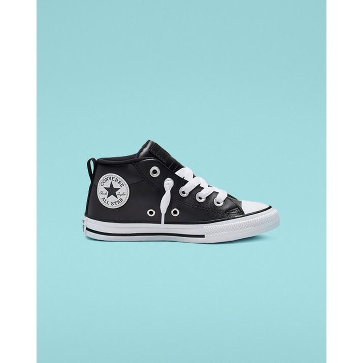 Sapatilhas Converse Chuck Taylor All Star Criança Pretas/Branco 663835C