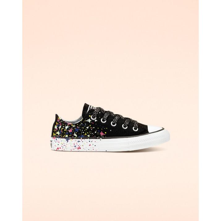 Kids Converse Chuck Taylor All Star Shoes Black/White/Multicolor 366458F
