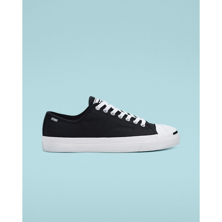 Womens Converse Jack Purcell Shoes Black/White/Black 165339C