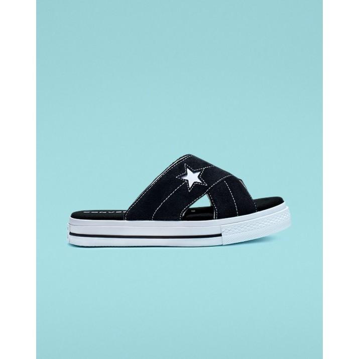 Zapatillas Converse One Star Mujer Negras/Blancas 564143C