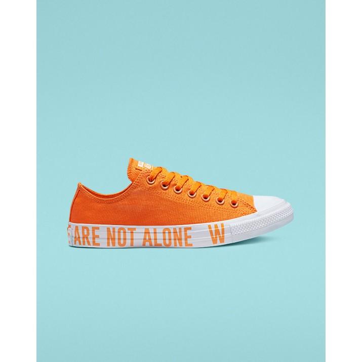 Mens Converse Chuck Taylor All Star Shoes Orange/White 165385C