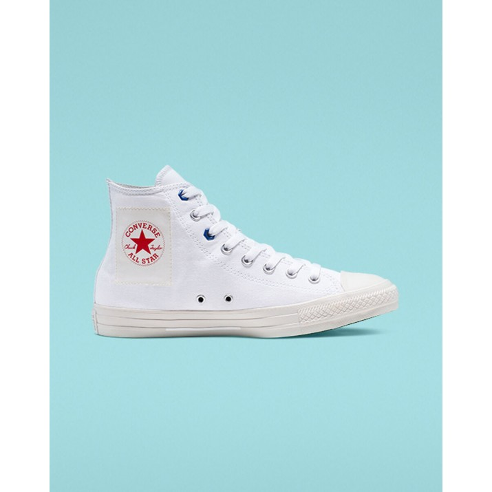 Mens Converse Chuck Taylor All Star Shoes White/Red 165051F