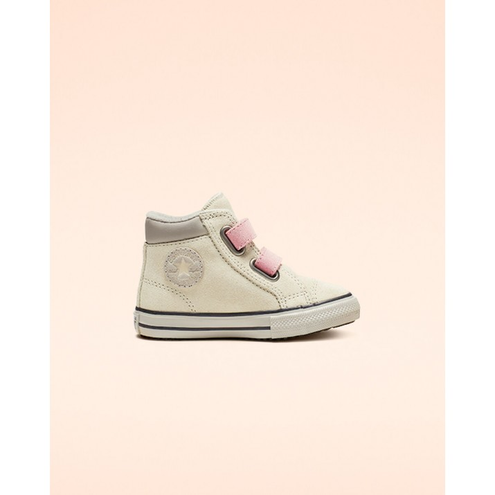 Kids Converse Chuck Taylor All Star Shoes Beige White/Pink 765166C