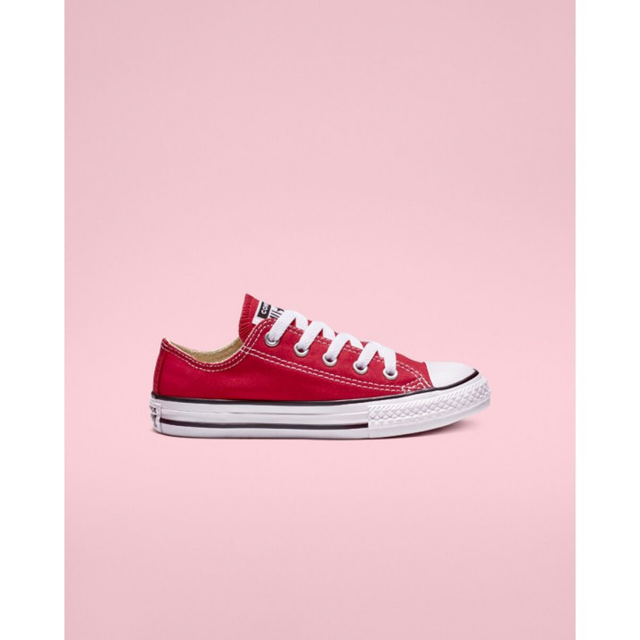 Kids Converse Chuck Taylor All Star Shoes Red 3J236