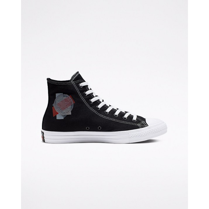 Womens Converse Chuck Taylor All Star Shoes Black/Red/White 165091C