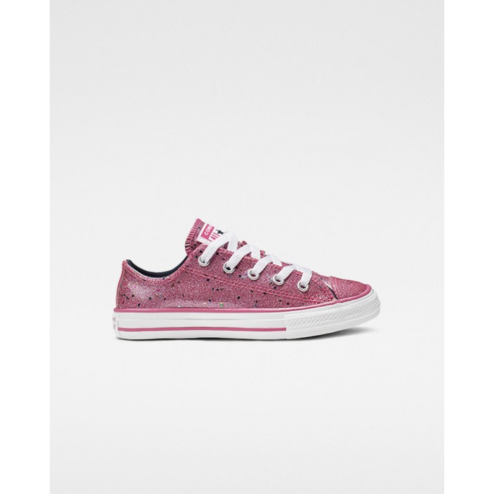 Kids Converse Chuck Taylor All Star Shoes Pink/Obsidian/White 665108C