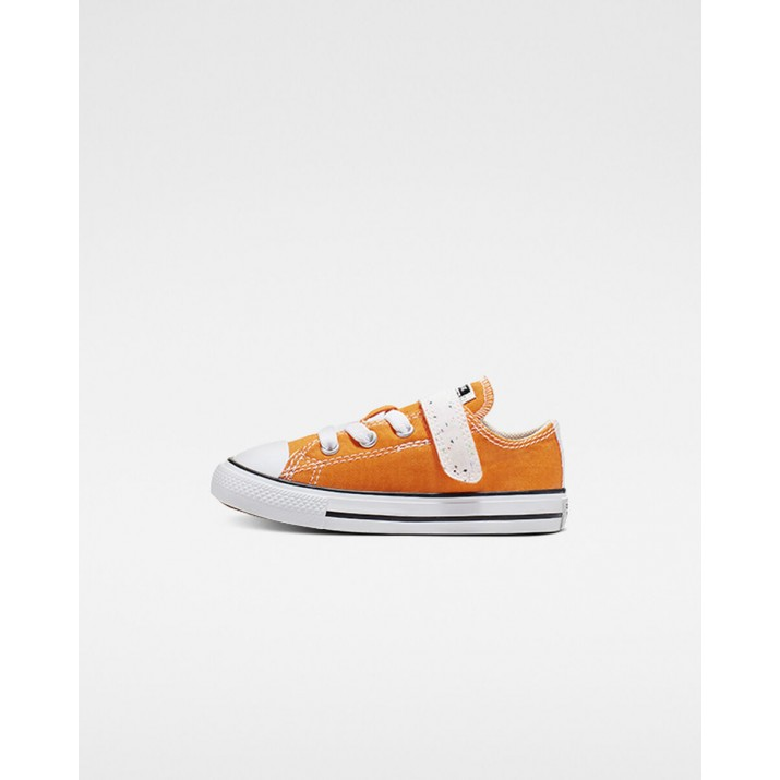 Kids Converse Chuck Taylor All Star Shoes Orange/Beige White 765124F