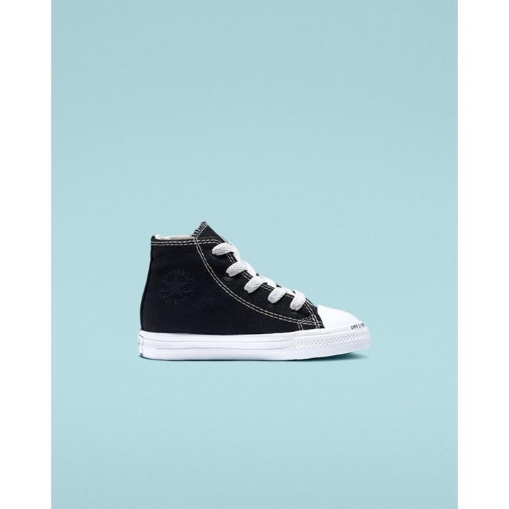 Kids Converse Chuck Taylor All Star Shoes Black/Beige/White 765477C