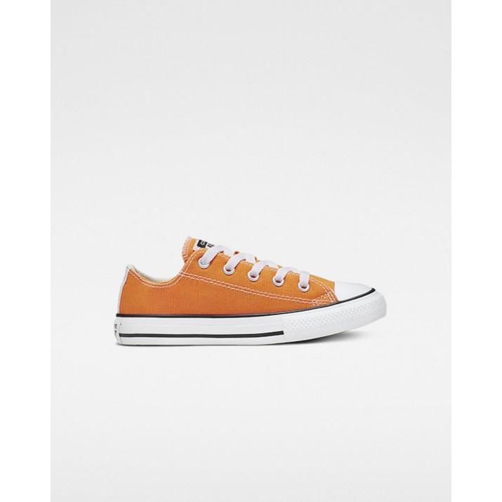 Zapatillas Converse Chuck Taylor All Star Niños Naranjas/Beige Blancas 665122F