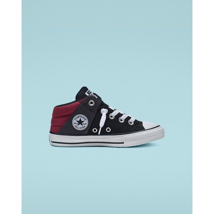 Kids Converse Chuck Taylor All Star Shoes Black/Dark Red/White 665356F
