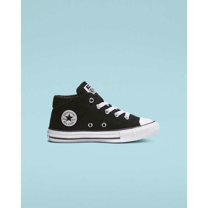 Kids Converse Chuck Taylor All Star Shoes Black/Pink/White 665310F