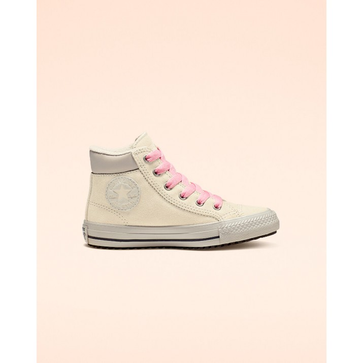 Kids Converse Chuck Taylor All Star Shoes Beige White/Pink 665164C
