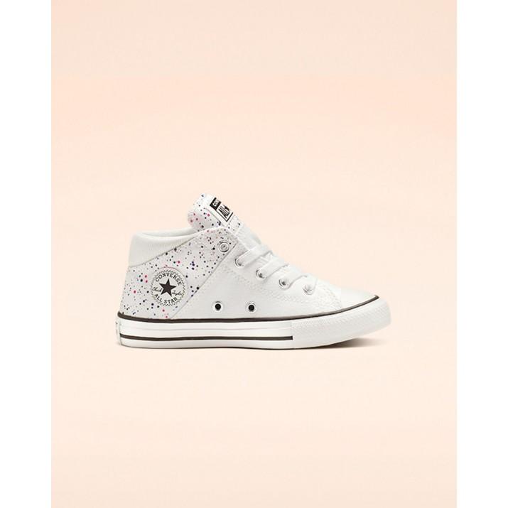 Sapatilhas Converse Chuck Taylor All Star Criança Branco/Rosa/Pretas 665482F