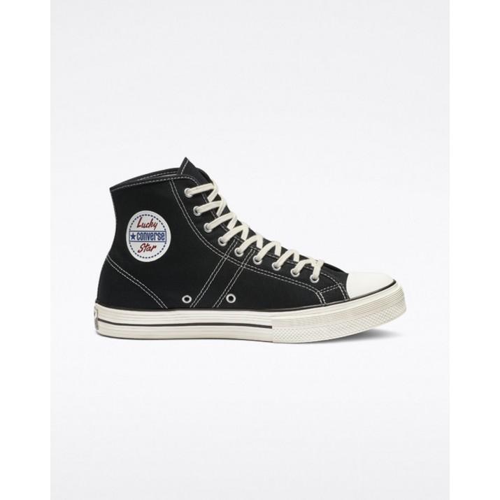 Zapatillas Converse Lucky Star Mujer Negras 163321C