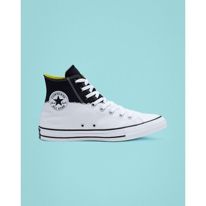 Converse Chuck Taylor All Star Damen Schuhe Weiß/Schwarz/Gelb 165709C