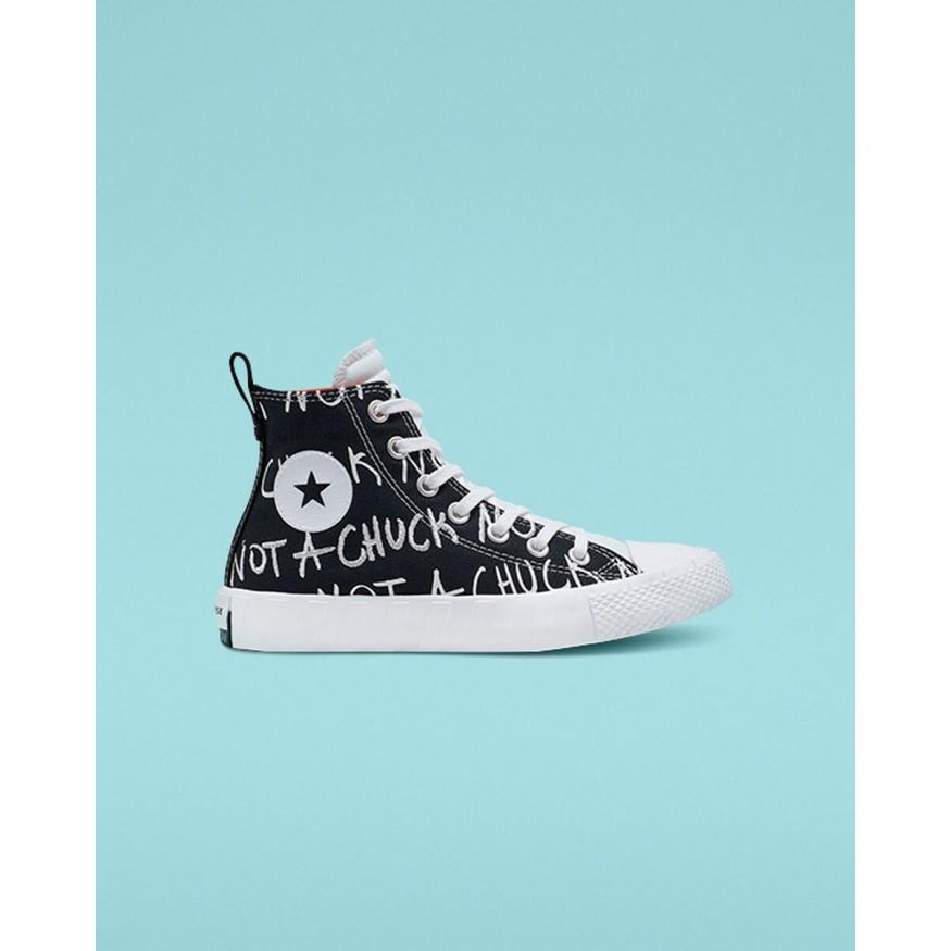 kids black converse shoes