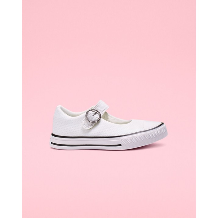 Kids Converse Chuck Taylor All Star Shoes White/Black/White 664260C